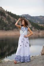 Adler Mixed Print Maxi Button Front Dress - 1