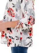 Adrienne Vittadini Three Quarter Scrunch Sleeve Blouse - 3