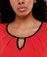 Adrienne Vittadini Short Sleeve with Keyhole Tee - 14