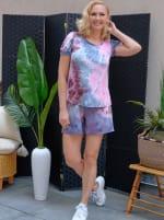 Pink Tie Dye Drawstring Short - 4