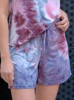 Pink Tie Dye Drawstring Short - 1