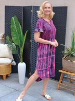 Pink Tie Dye Keyhole Dress - 3