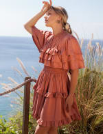 Linnette Victorian Style Mini Dress - 3