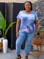 DB Sunday Tie Dye Cinch Side Knit Top - 2