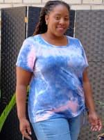 DB Sunday Tie Dye Cinch Side Knit Top - 3