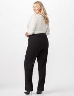 Roz & Ali Secret Agent Pull On Tummy Control Pants - Short Length - Plus - Black - Back