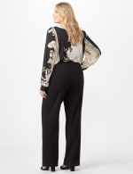 Roz & Ali Secret Agent Pull On Tummy Control Pants - Tall Length - Plus - Black - Back