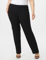 Roz & Ali Plus Secret Agent Tummy Control Pants Cateye Rivets - Average Length - Plus - Black - Front