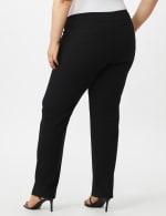 Roz & Ali Plus Secret Agent Tummy Control Pants Cateye Rivets - Average Length - Plus - Black - Back