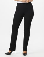 Roz & Ali Secret Agent  Pull on Tummy Control Pants with L Pockets - Average - Black - Front