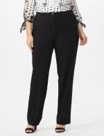 Roz & Ali  Plus Secret Agent Trouser  Pants with Cat Eye Pockets & Zip - Black - Front