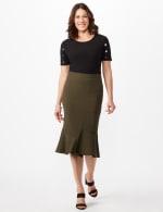 Flounce Skirt - Black - Front