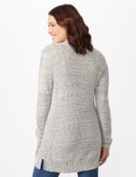 Textured Cardigan with Pointelle Detail - Misses - Ivory/Black - Back