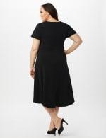 Stretch Crepe Tie Waist Hi/Lo Dress - Black - Back