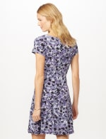 Bubble Dot Dress with Seam Detail - Lilac - Back
