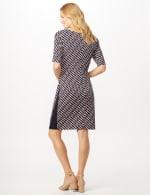 Geometric Side Wrap Dress - Mauve - Back