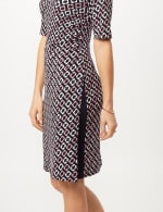 Geometric Side Wrap Dress - Mauve - Detail