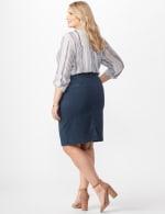 Belted Denim Skirt - Carbon Wash - Back