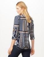 Patchwork Geometric Popover - Blue Multi - Back
