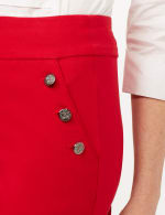 Pull-On Sailor Pants - Red - Detail