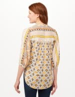 Vertical Print Tunic Shirt - Yellow - Back