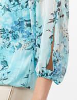 Floral Bubble Hem Blouse - Mint - Detail