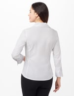 Ultimate Fit Button Front Shirt - White - Back