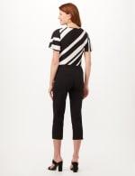 Pull-On Grommet Trim Crop Pants - Black - Back
