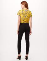 Faux Pocket Pull-On Leggings - Black - Back