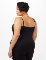 Lace Trim Cami - Black - Back