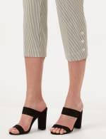 Striped Pull-On Crop Pants - White/Black - Detail