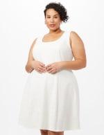 Floral Jacquard Jacket Dress - White - Detail