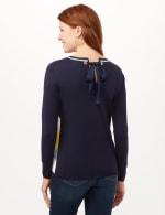 Chevron Tie Back Sweater - Chevron - Back