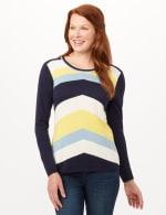 Chevron Tie Back Sweater - Chevron - Front