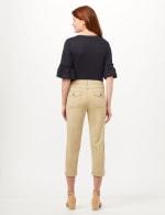 Midrise Crop Pants with Back Cargo Pockets - Khaki - Back