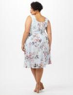 Floral Emma Chiffon Dress - Aqua - Back