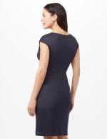 Seam Detail Stripe Insert Dress - Navy - Back