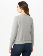Mineral Wash Raw Edge Sweatshirt - Alloy Grey - Back