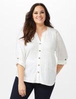 Bahama Breeze Button up Shirt - Ivory - Front
