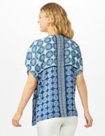 Medallion Print Kimono - Navy - Back