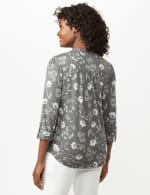 Floral Pintuck Popover - Grey - Back