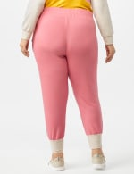 Drawstring Knit Pant with Pockets - Plus - Coral - Back