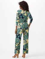 Knit Pull on Print Pant - Yellow/Green - Back