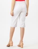 Multi Dot Printed Pull On Skimmer Pants - White/Multi Dot - Back