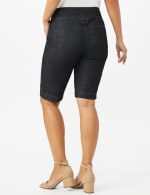 Extended Button Tab Bermuda Short With Inner Beauty - Rinse - Back