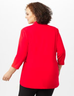 Collar - Less Notched Topper With Buttons Side Tabs - Infared - Back