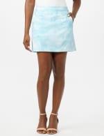 Pull On Tie Dye Skorts with Pockets - Azurine/White - Front