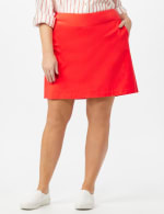 Pull On Solid Skort with Pockets - Coralicious - Front
