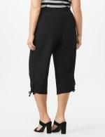 Active Capri Pull On Pants with Ruched Hem - Ebony Black - Back