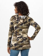 Camo Thermal Hoodie - Olive - Back